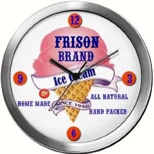 FRISON 14 Inch Ice Cream Metal Clock Quartz Movement