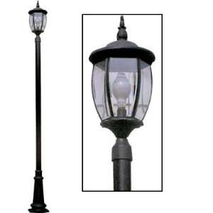 Front Yard Lamp Post with Yard Light Home Improvement