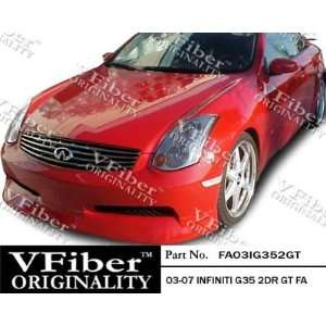 Infiniti G35 03 07 2dr VFiber FRP GT 1pc Front Lip Automotive