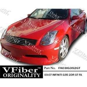 Infiniti G35 03 07 2dr VFiber FRP GT 1pc Front Lip Automotive
