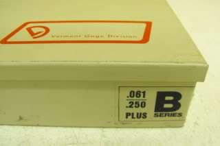 Vermont Gage Division B Series Plus Pin Set .061 .250