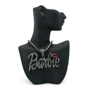 with Red Lips Barbie Nicki Minaj Pendant with 20 Inch Necklace Chain