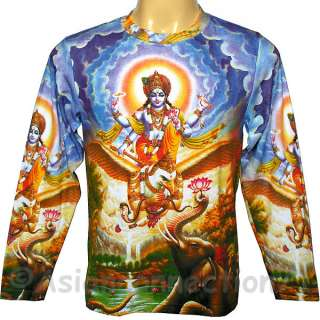 LORD GANESH New Hindu Ganapati God Fine Art Hand Print T Shirt Misses