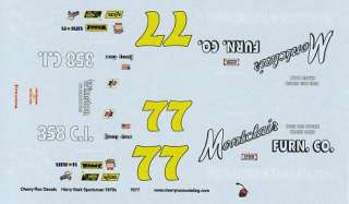 77 Harry Gant Montclair Furniture decals 1970
