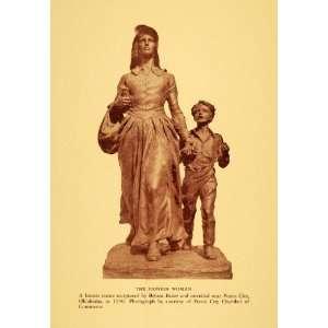 1945 Print Pioneer Woman Bronze Monument Oklahoma1930