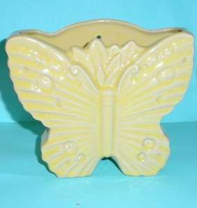 McCoy Yellow Butterfly Wall Planter