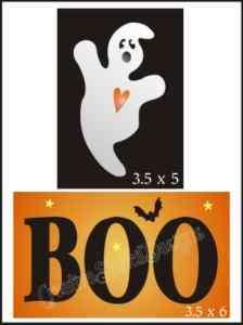 STENCIL Ghost BOO Bat Stars Halloween Primitive Blocks