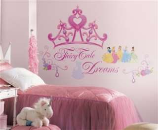 GIANT DISNEY PRINCESS CROWN WALL DECALS Stickers Decor 034878827605