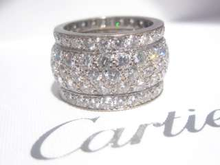 CARTIER 18K WHITE GOLD DIAMOND NIGERIA RING SIZE 49
