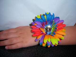girls GERBER DAISY BRACELET wrist band RETRO TYE DIE