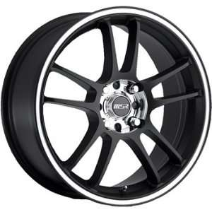 MSR 43 16x7 Black Wheel / Rim 5x110 & 5x115 with a 35mm Offset and a