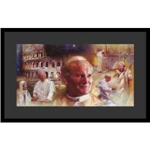 Pope John Paul II (Montage) Religious Poster Print   11 X