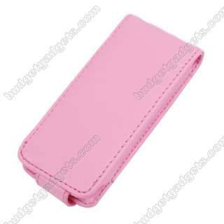 Pink Protective Leather Case Cover for iPod NANO 5th