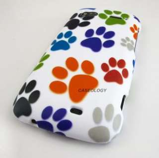 COLORFUL DOG PAW HARD CASE COVER HTC SENSATION 4G PHONE