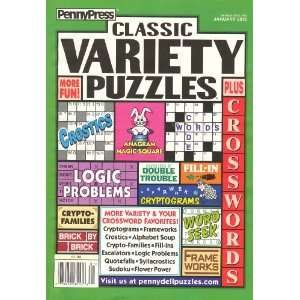 Variety Puzzles Plus Crosswords January 2012 Warren Rivers Books