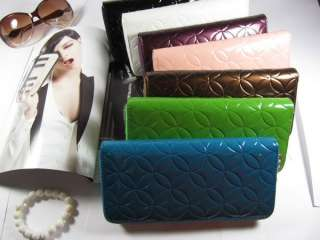 PU Leather Wallet Clutch Copper Cash Printing Purse Long Handbag Bag