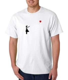 Banksy Balloon Girl Graffiti Art 100% Cotton Tee Shirt