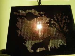 ANTIQUE ARTS&CRAFTS LIGHT FIXTURE MOOSE,OWL, WOLF, BEAR