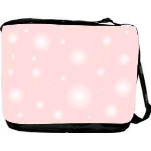 Rikki KnightTM Light Pink Bubbles Design Messenger Bag