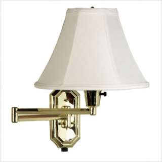 Kenroy Home Nathaniel 12 Swing Arm Wall Sconce in Brass 30130PB