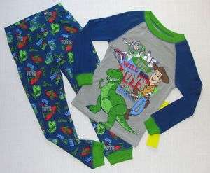 DISNEY PIXAR TOY STORY BUZZ WOODY TOYS Pajama Set, NEW, Size 4, 5, 6