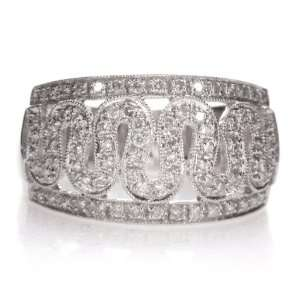 14k White Gold .56 Carat Diamond Ring New: Jewelry