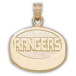 New York Rangers NHL Rangers Puck Pendant (14kt) Sports