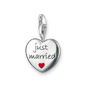 Sabo Just Married Heart Charm, Sterling Silver Thomas Sabo Jewelry