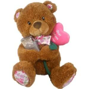 Bear w/ Inscription Best Mom Ever   A Great Mothers Day Gift Idea