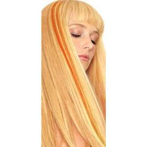 : Lord & Cliff 18 Inch Human Hair Highlight Clip in (Orange): Beauty