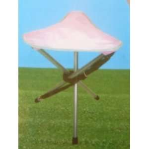 Womens Pink Folding Golf Stool Fold up Chair in Portable