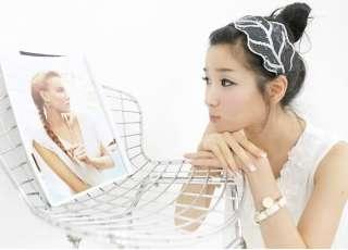 Fashion White Leaf Flower Lovely Hair Hoop Nice Charm Festival Gift