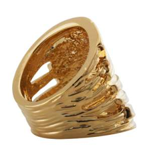 or 10K Gold Plated Wide Braided Band Rings in Sizes 6,7,8,9,10
