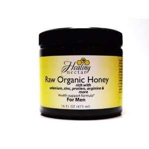 Raw Organic Honey for Men, Rich with Selenium, Zinc, Protein, Argenine