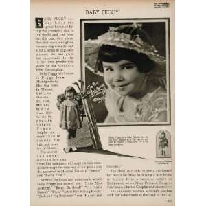 1923 Baby Peggy Silent Film Star Diana Serra Cary Print