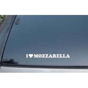 I Love Mozarella Vinyl Decal Stickers