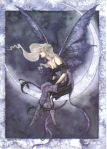 Amy Browns Moon Sprite Fairy Art Postcard 2004 MINT