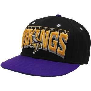 NFL Minnesota Vikings Mens Hardknock Snapback Hat   Black