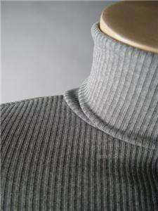 HEATHER Gray Ribbed Turtleneck Long Maxi fp Dress L