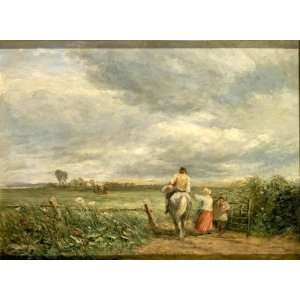 Oil Reproduction   David Cox   24 x 18 inches   Going To The Hayfield