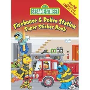Sesame Street Firehouse & Police Station Super Sticker Book