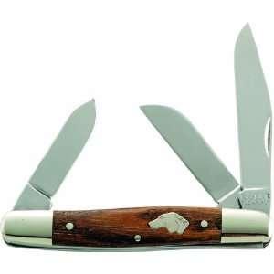 Ka Bar Dogs Head 3 Blade Stockman Knife (6 7/8 Inch)