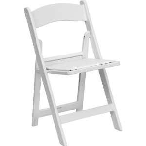 Flash Furniture Heavy Duty White Resin Folding Chair w