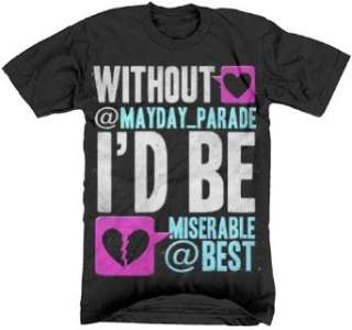 MAYDAY PARADE   Tweet   Black T shirt Clothing