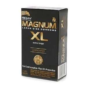Trojan Lubricated Latex Condoms, Magnum XL, Extra Large