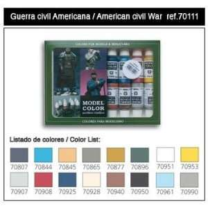 Vallejo Model Colors Paint Set: American Civil War (16