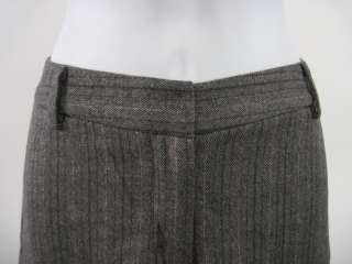 MILLY Gray Beige Wool Stripe Cropped Shorts Size 8
