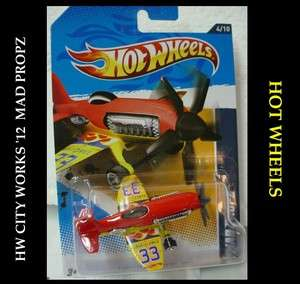 Hot Wheels 2012 HW City Works. Mad Propz POLICE SURVEILANCE PLANE