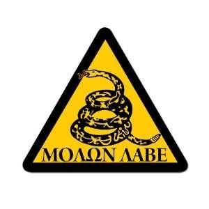 Triangle Molon Labe Dont Tread Snake (Pro Gun) Sticker