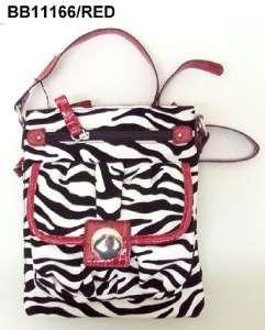 New Designer Inspired Zebra Messenger Bag Purse handbag